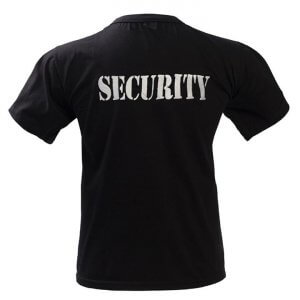 Μπλουζάκι μακό με κέντημα SECURITY