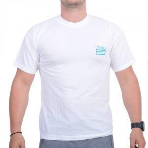 EAGLE T-shirt (Ο.Υ.Κ.) Με Στάμπα Άσπρο